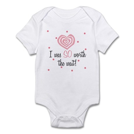 I was worth the Wait Pink Baby Infant Bodysuit