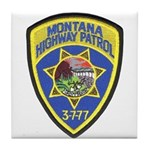 Montana Highway Patrol Tile Coaster
