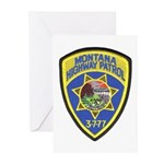 Montana Highway Patrol Greeting Cards (Pk of 10)