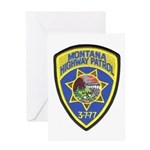 Montana Highway Patrol Greeting Card