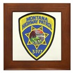 Montana Highway Patrol Framed Tile