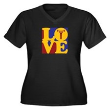 Weight Lifting Love Women's Plus Size V-Neck Dark