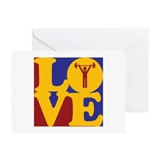 Weight Lifting Love Greeting Card