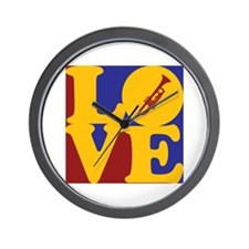 Trumpet Love Wall Clock