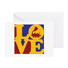 Trains Love Greeting Card