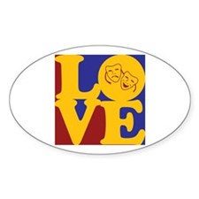 Theater Love Oval Decal