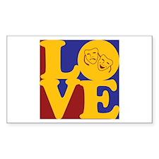 Theater Love Rectangle Sticker 50 pk)