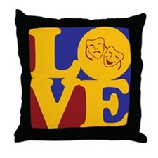 Theater Love Throw Pillow
