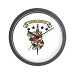 Love Steel Drum Wall Clock