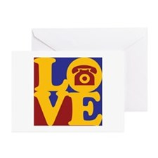 Telephones Love Greeting Cards (Pk of 20)