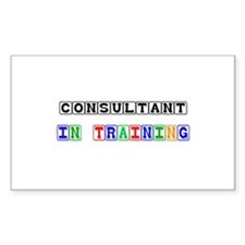 Consultant In Training Rectangle Decal