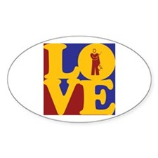 Teaching Love Oval Decal