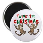 Twins' First Christmas - Monkey Magnet