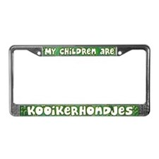 My Children Kooikerhondje License Plate Frame