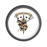 Love Snare Drum Wall Clock