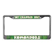 My Children Komondor License Plate Frame