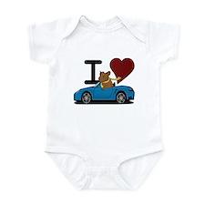 I heart Hamster Infant Bodysuit