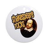 Shakespeare Rocks Ornament (Round)