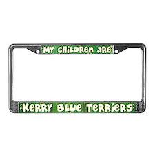 My Children Kerry Blue Terrier License Plate Frame