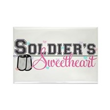 Soldier's Sweetheart Rectangle Magnet