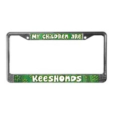 My Children Keeshond License Plate Frame