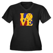Rowing Love Women's Plus Size V-Neck Dark T-Shirt