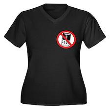 No Soup... Women's Plus Size V-Neck Dark T-Shirt