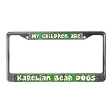My Children Karelian Bear Dog License Plate Frame