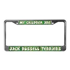 My Children Jack Russell License Plate Frame