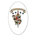 Love Professoring Oval Sticker (10 pk)