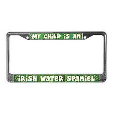 My Kid Irish Water Spaniel License Plate Frame