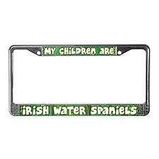 Children Irish Water Spaniel License Plate Frame