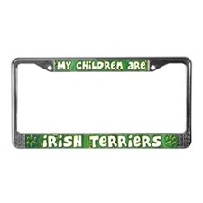 My Children Irish Terrier License Plate Frame