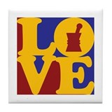 Pharmacology Love Tile Coaster