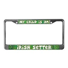 My Kid Irish Setter License Plate Frame