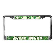 My Kid Ibizan Hound License Plate Frame