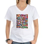 Parade of Nations Women's V-Neck T-Shirt