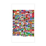 Parade of Nations Rectangle Sticker (Rectangle)