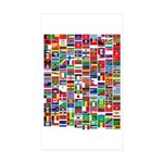 Parade of Nations Rectangle Sticker 10 pk)