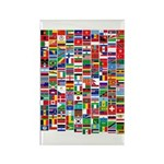 Parade of Nations Rectangle Magnet (100 pack)