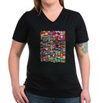 Parade of Nations Women's V-Neck Dark T-Shirt