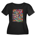 Parade of Nations Women's Plus Size Scoop Neck Dark T-Shirt