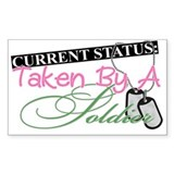 Taken By A Soldier Rectangle Decal
