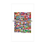 Let the Games Begin Rectangle Sticker 10 pk)