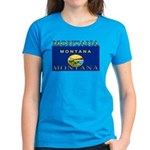 Montana State Flag Women's Dark T-Shirt