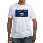Montana State Flag Fitted T-Shirt