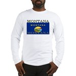 Montana State Flag Long Sleeve T-Shirt