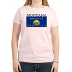 Montana State Flag Women's Light T-Shirt