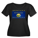 Montana State Flag Women's Plus Size Scoop Neck Da