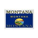Montana State Flag Rectangle Magnet (10 pack)